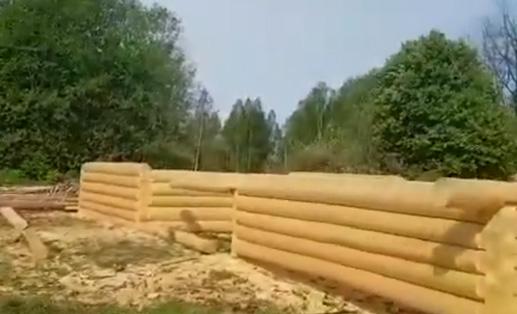 Сруб 5х6 + терраса 2 метра, рубка в лапу