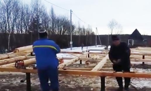 Собираем фундамент под сруб дома 6х9 с крыльцом 2,5х2 метра