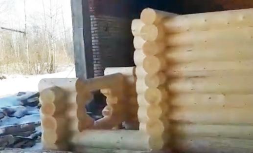 Видео отчёт сборки сруба. Снимаю для клиента его сруб в чашу