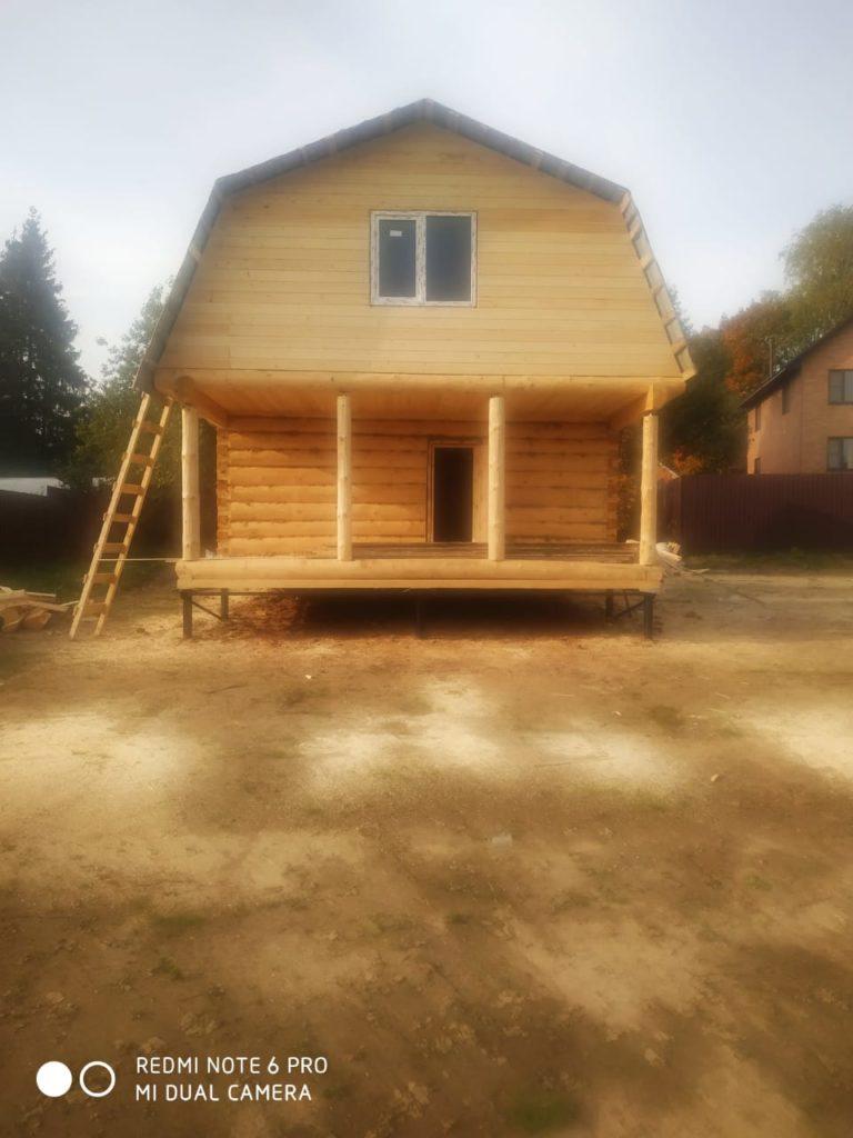 Дом 6х6м с мансардой и ломанной крышей