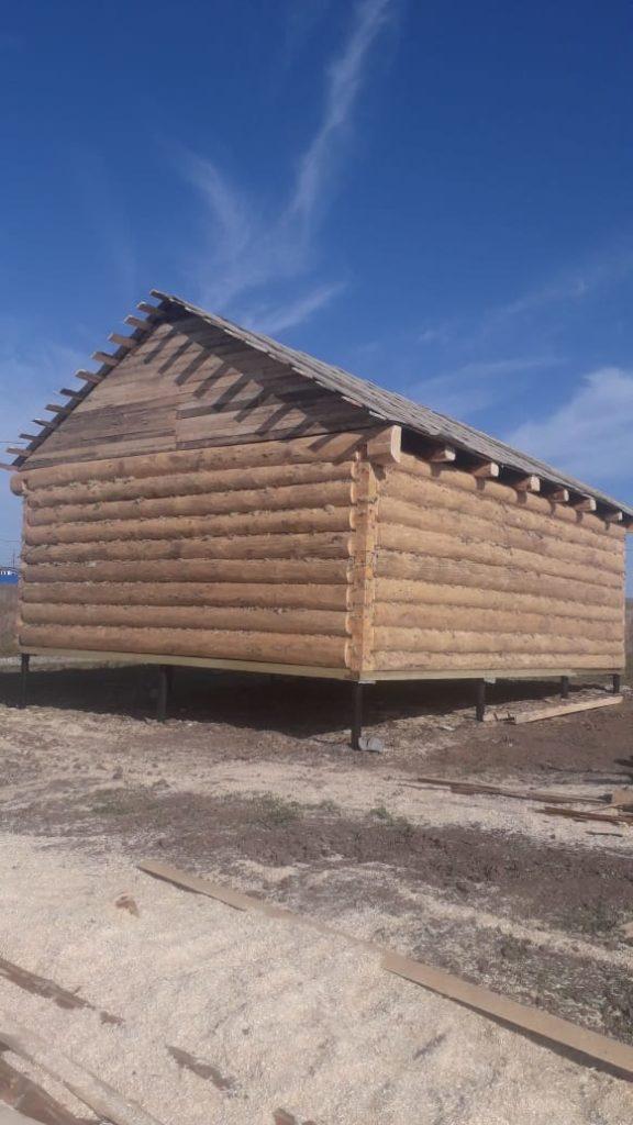 Устанавливаем дом 6х8 метров