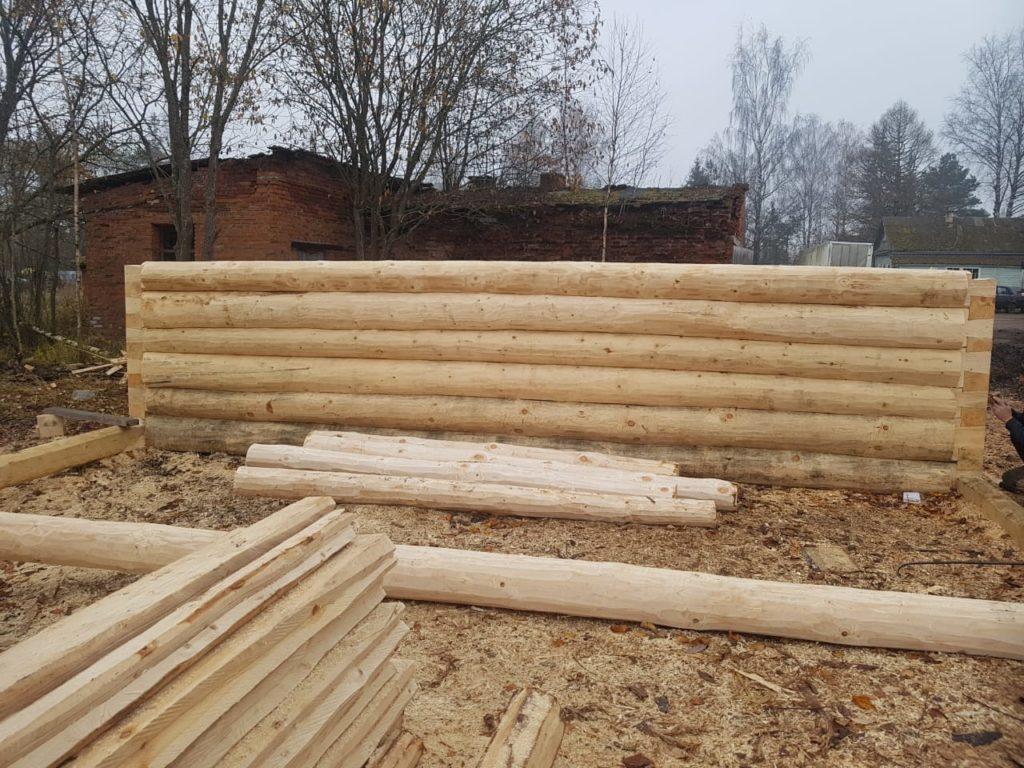Будущий дом из сруба 6,2*6,2 м