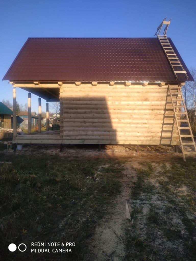 Установили дом 6.2 на 6.2 с мансардной крышей