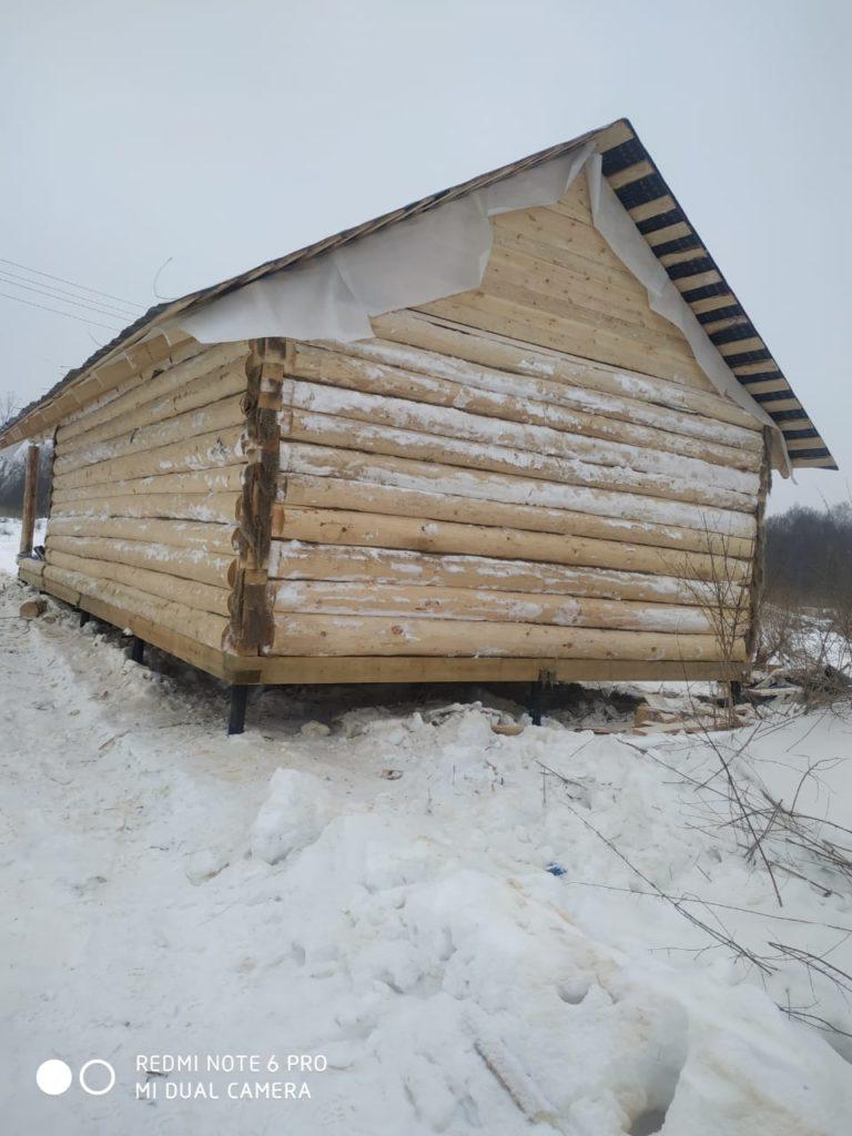 Дом на участке клиента — 9х6 с 3-х метровой террасой