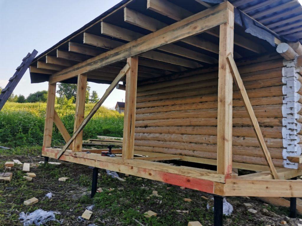 Домик 5 на 6 с террасой 3 метра